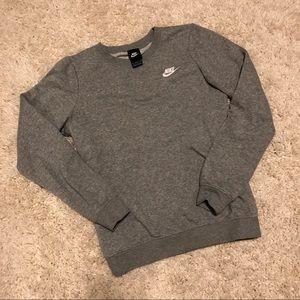 Nike light gray sweatshirt